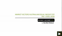 Market Vectors Australian Equal Weight ETF